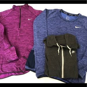 Nike running pull over bundle, Dri fit
